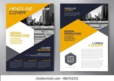 Business brochure flyer design a4 template. Vector illustration