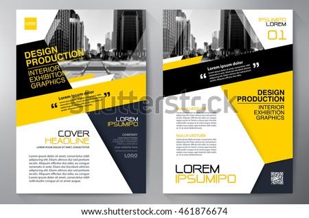 business brochure flyer design a 4 template のベクター画像素材
