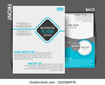 business brochure flyer design layout template in A4 size.