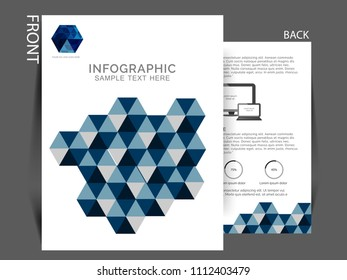 Business brochure flyer design layout template in A4 size,Multipurpose template with cover, back and inside pages.
