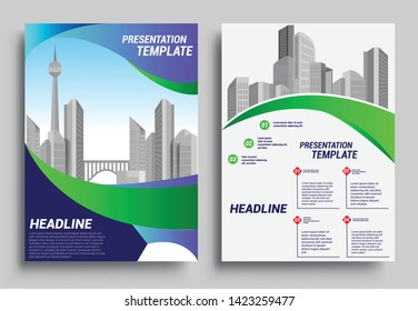 Business brochure flyer design layout template in A4 size, report, poster, flyer background with geometric background