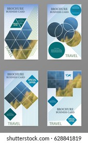 Business brochure flyer design layout vector template with blur background.