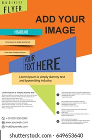 business brochure flyer design layout template in A4 size, vector eps10.