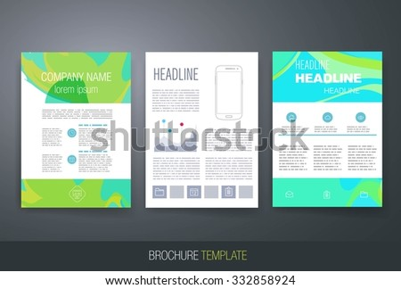 business brochure flyer design layout template stock vector royalty