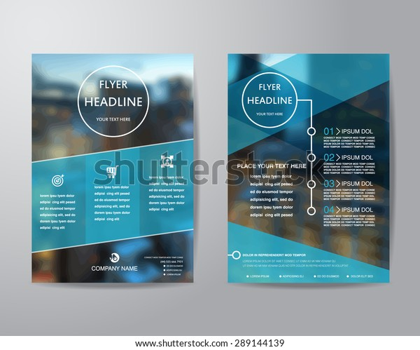 business brochure flyer design layout template in A4 size, with blur background, vector eps10.