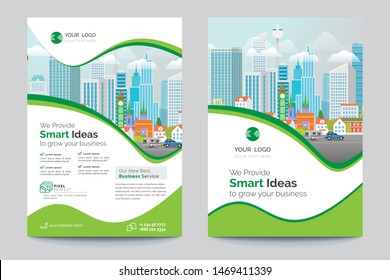 Business Brochure. Flyer Design. Leaflets a4 Template. Cover Book and Magazine. Annual Report Vector illustration - Vector