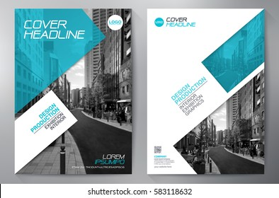 Business Brochure Flyer Design. Leaflets a4 Template. Cover Book and Magazine. Annual Report Vector illustration