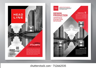 Business Brochure. Flyer Design. Leaflets a4 Template. Cover Book and Magazine. Annual Report Vector illustration