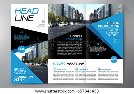 Business Brochure Flyer Design Leaflets 3 Fold Template Cover Book And Magazine