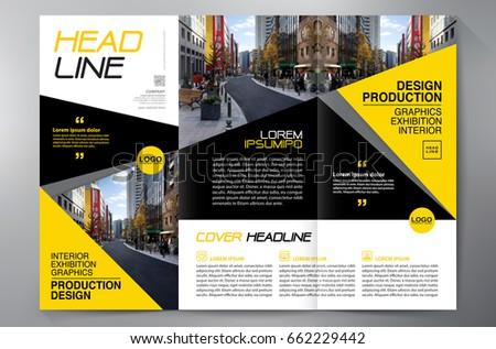 business brochure flyer design leaflets 3 stock vector royalty free