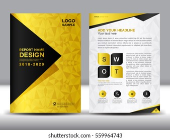business brochure flyer template a 4 size stock vector royalty free