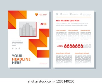 Business brochure layout. Annual report, flyer, magazine abstract background.