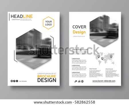 business brochure layout creative brochure template stock vector