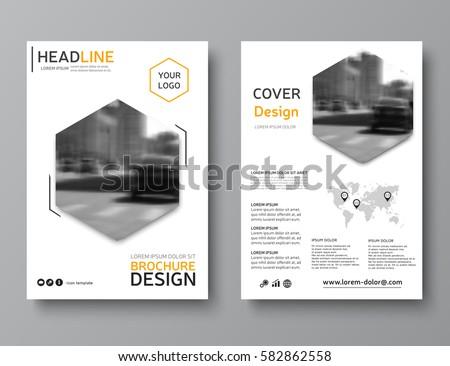 business brochure layout creative brochure template stock vector