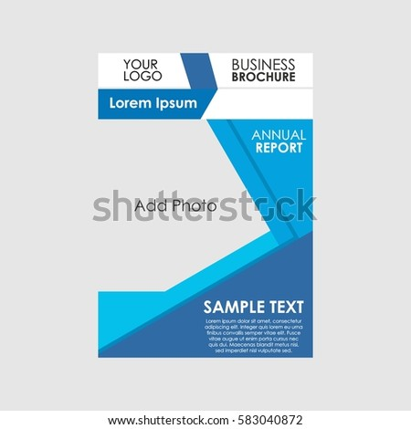 business brochure presentation template annual report stock vector