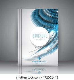Business brochure template with an abstract design