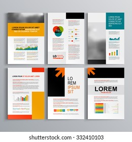 Tri fold brochure design orange dl stock vector royalty free business brochure template design with arrows cover layout and infographics wajeb Gallery