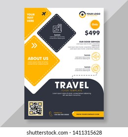 Business Brochure, Template or Flyer design for Tour and Travel Business concept.
