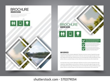 Business brochure template. Flyer design. Annual report cover? Booklet for education, advertisement, presentation, magazine page. a4 size vector illustration. Blue color.