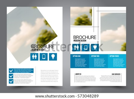 business brochure template flyer design annual report cover booklet for education advertisement