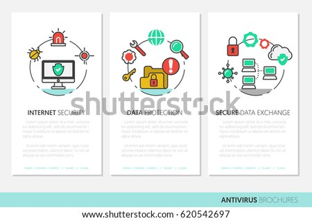 business brochure template internet security data stock vector