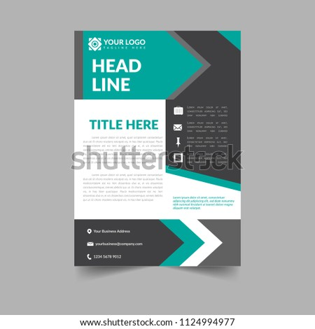 business brochure template simple elegant cover stock vector