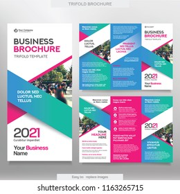 Flyer template images stock photos vectors shutterstock business brochure template in tri fold layout corporate design leaflet with replacable image wajeb Images