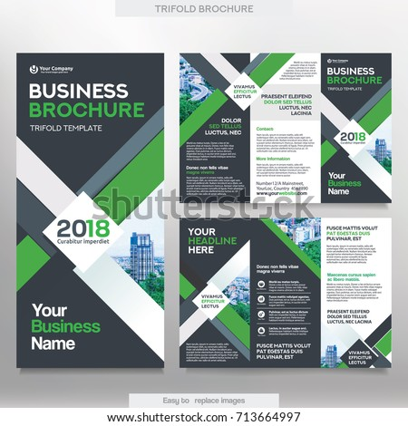 Business Brochure Template Tri Fold Layout Stock Vector Royalty