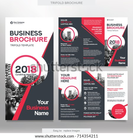 business brochure template tri fold layout のベクター画像素材