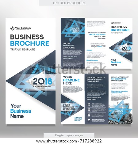 Business brochure template tri fold layout stock vector royalty business brochure template in tri fold layout corporate design leaflet with replacable image cheaphphosting Image collections