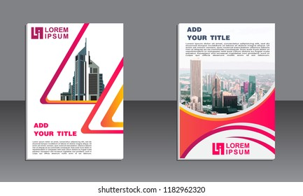 Business brochure vector design. book cover maker. Flayer template