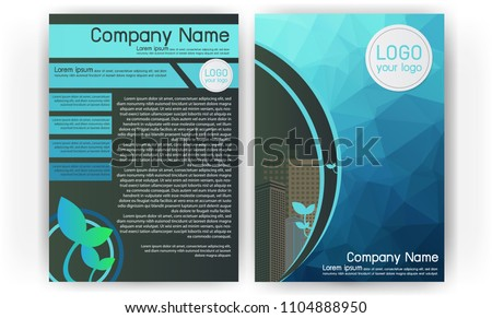 business brochure vector flyers design template stock vector
