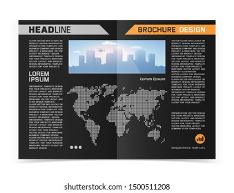 Business brochure or web banner design. Vector illustration