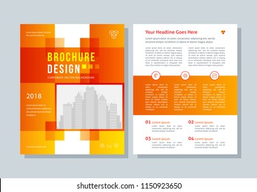 Business broshure, flyer, magazine abstract background, red cover, size template a4. Corporate Presentation, Banner, Color Book