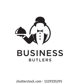 business butlers logo design vector