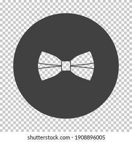 Business Butterfly Tie Icon. Subtract Stencil Design on Tranparency Grid. Vector Illustration.