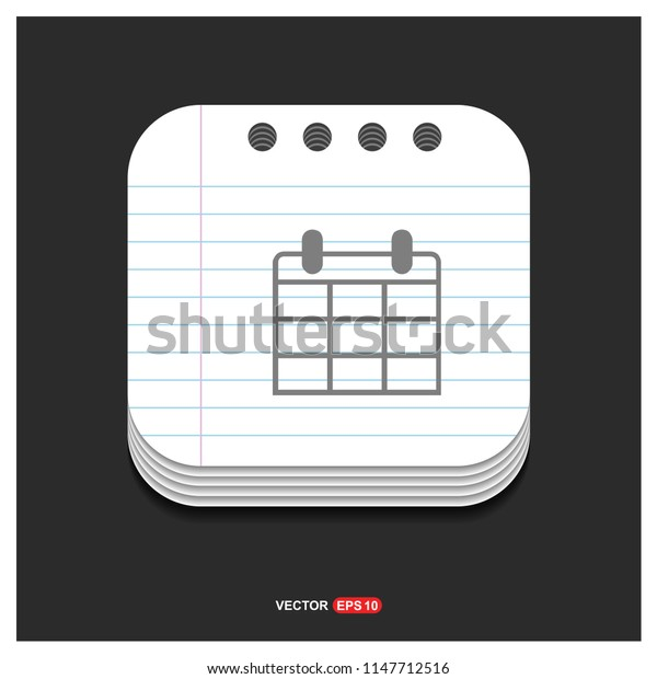 Business calendar icon - Free vector icon