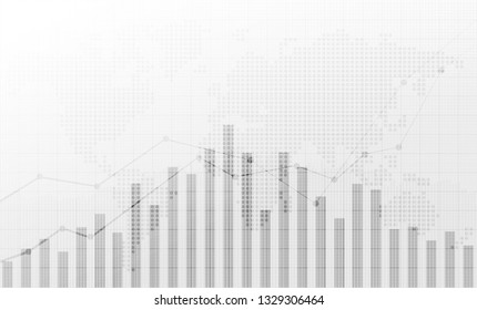 Business candle stick graph chart of stock market investment trading, Bullish point, Bearish point. concept for financial investment or Economic trends of graph vector design.