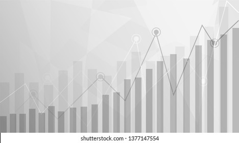 Business candle stick graph chart of stock market investment trading on white or gray background.Bullish point, Trend of graph. Eps10 Vector illustration.
