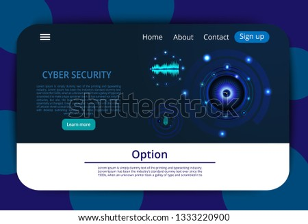 Business Card Abstract Image Cyber Security Stock Vector (Royalty