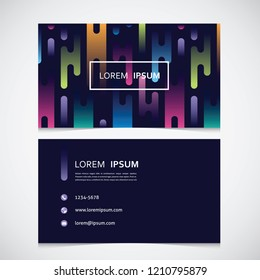business card with an abstract pattern with a gradient