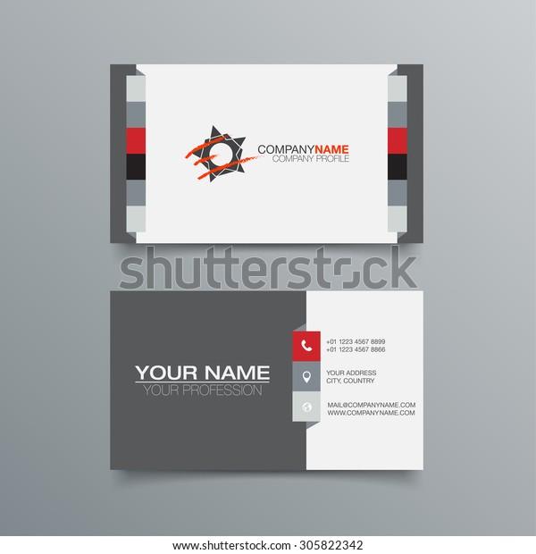Design Vorlage Für Visitenkarten Stock Vektorgrafik Stock