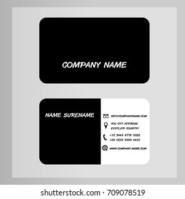 Business Card black white abstact vector