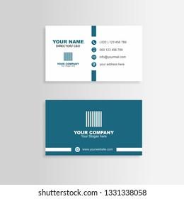 business card blue minimalis