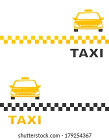 Business Card With Cab And Taxi Sign