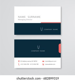 Business card Clean design template vector