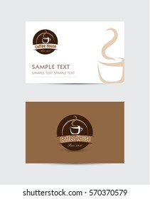 business card with coffee logo
