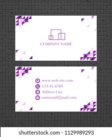 Business card concept. Vector illustration. Bussines card template