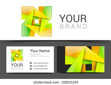 business card creative design template Corporate Identity logo.