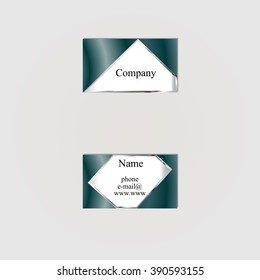 business card with a dark background